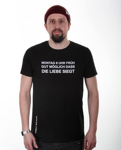 Wolf Maahn Montag T-Shirt schwarz